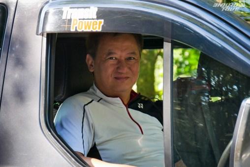 Jackie, un chauffeur qui a pour habitude de transporter les vététistes. Au top !