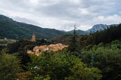 Olargues, the central hub of the race.
