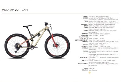 Commençal Meta AM 29 Team - 3899€