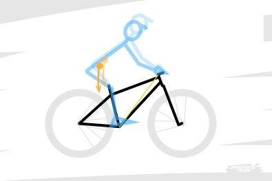 Néanmoins, cette tendance est à prendre avec des pincettes, puisqu'elle dépend de la morphologie du pilote, et de son style de pilotage. Deux mêmes gabarits peuvent ne pas se positionner naturellement de la même manière sur le vélo s'ils ne sont pas aussi souples l'un que l'autre...
