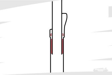 Zoom sur la zone des joint racleurs, et au dessous d'eux les bagues de guidage. Pour assurer une étanchéité et un guidage de premier plan, les ajustements doivent être fins et précis, la lubrification adéquate.
