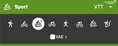 Depuis peu, Komoot peut également tenir compte de la nature du vélo utilisé : musculaire, ou à assistance électrique.