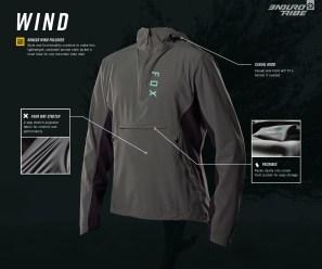 La veste coupe vent Wind est à vrai dire un pull. Il est taillé comme en tout cas, pas d'ouverture complète zippée sur le devant et il laisse place à une large poche ventrale. La capuche est au rendez-vous et il profite d'un tissu strech extensible pour le confort.