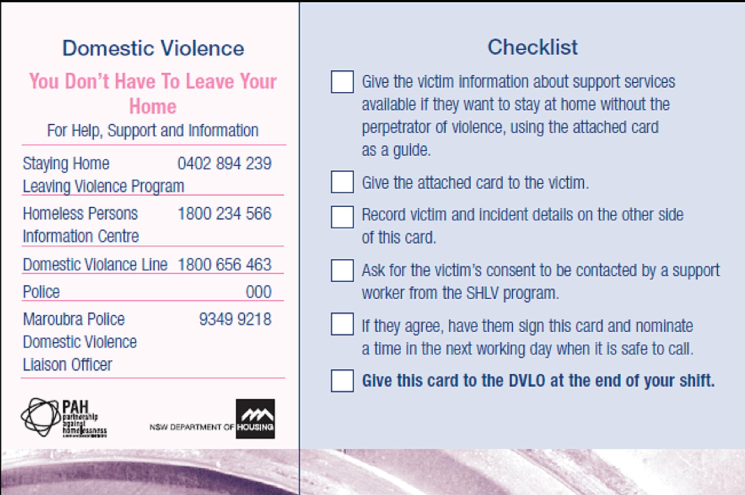 Safety Plan Worksheet Domestic Violence