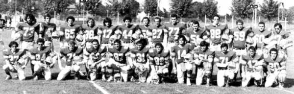 1980 - La prima formazione dei Gladiatori Roma in una gara ufficiale