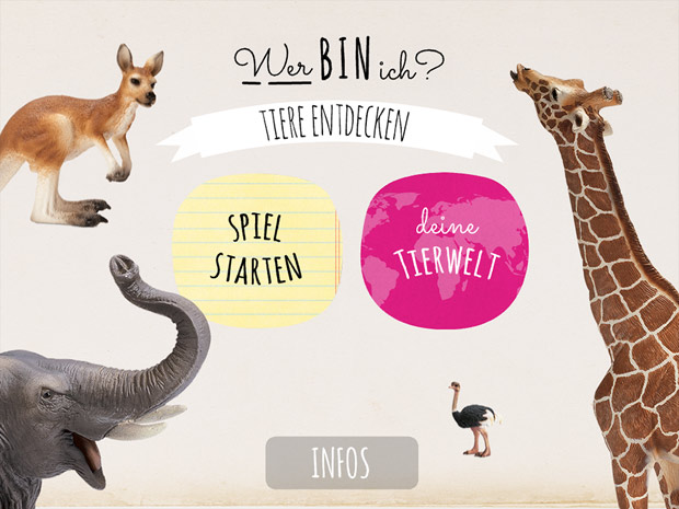 Tiere lernen mit der Wer bin ich Kinder App