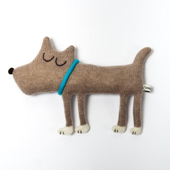 Handgemachter Stoff Hund von Saracarr