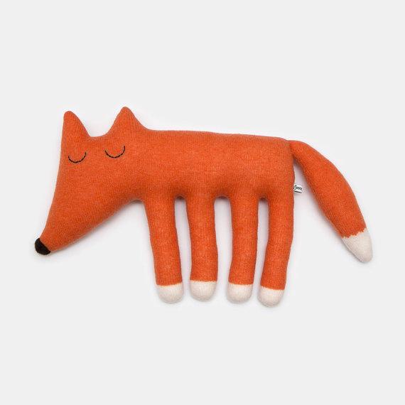 Handgemachter Stofftier Fuchs von Saracarr