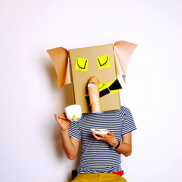 Elefant Karton-Kostüm-Idee