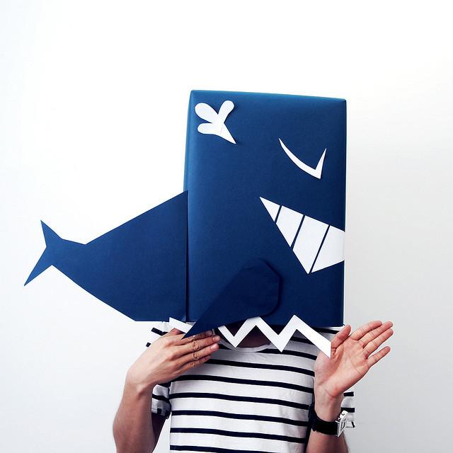 Wal Karton-Kostüm-Idee