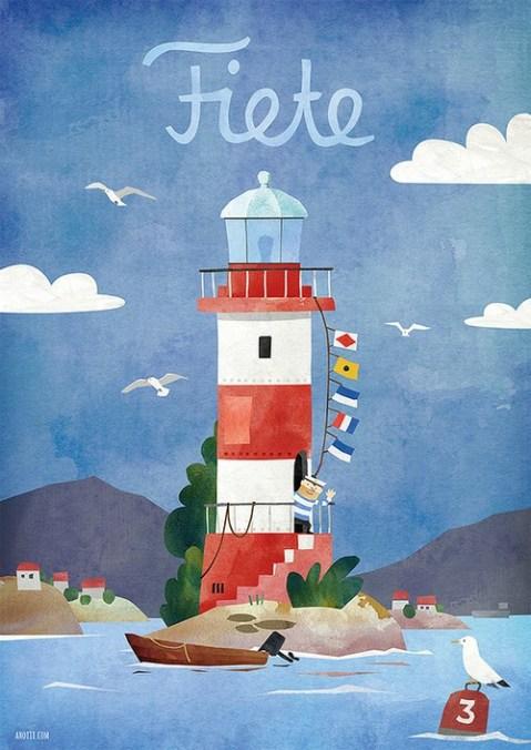 Fiete App Leuchtturm-Poster