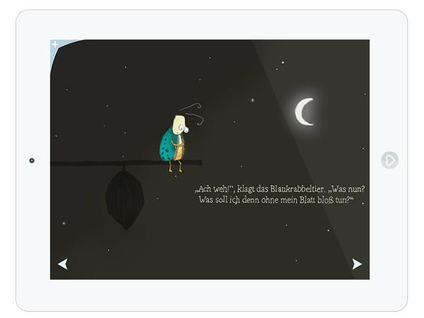Schön gestaltete Kinderbuch App für Kinder ab 6 Jahren