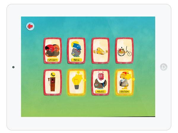 Kinder Lern App über die größten Erfindungen