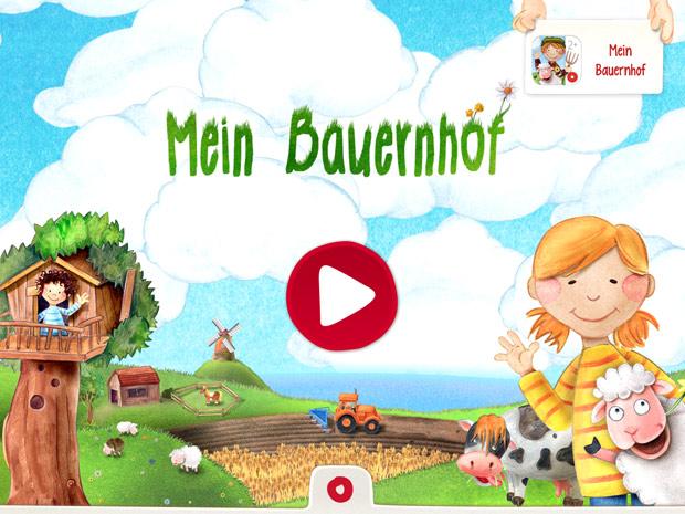 Kinder Wimmel App über das Landleben