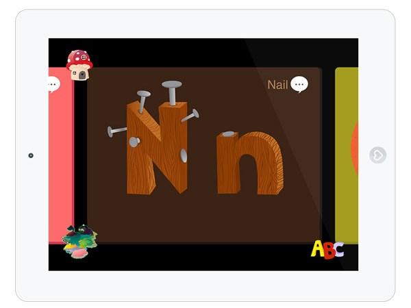 Buchstaben Lern App für Kleinkinder