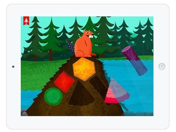 Kapu Wald Minispiele App mit Waldtieren