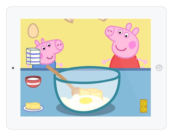 Organisiere die Geburtstagsfeier von Peppa Pig