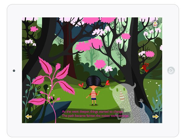 Englische Kinderbuch App über Freundschaft und Hilfe