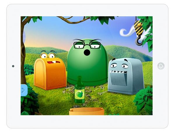 Kinder App um Mülltrennung und Umweltbewusstsein zu lernen