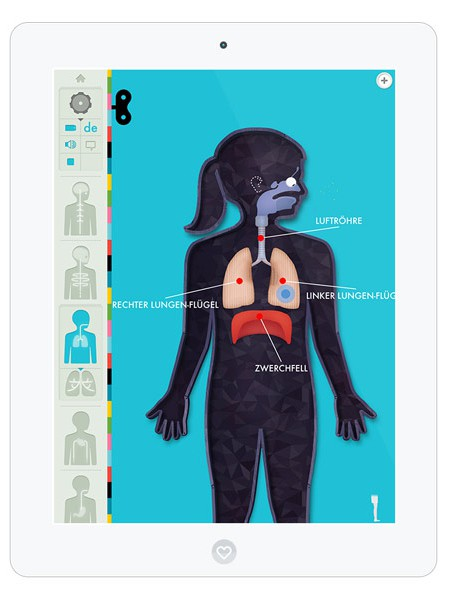 Kinder Lern App für ältere Kinder über menschliche Anatomie