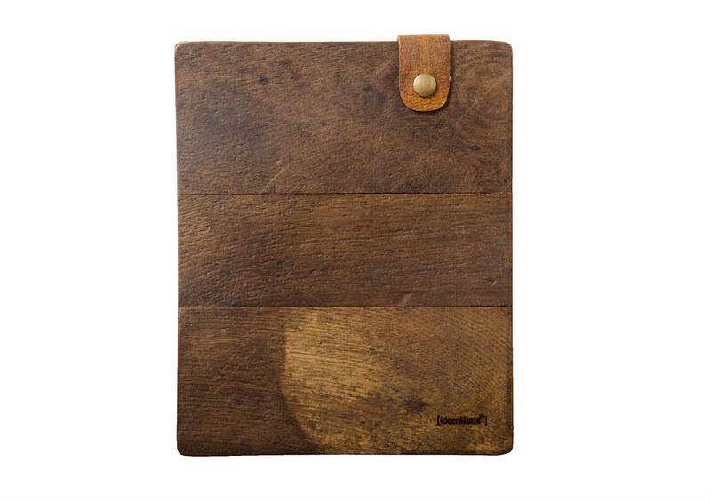 Handgemachte iPad Sleeves aus Holzparkett – Eiche