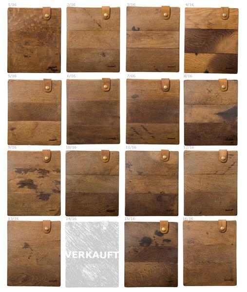 Handgemachte iPad Sleeves aus Holz – alte Dielen