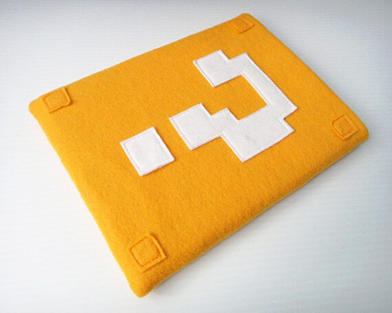 Nerdige iPad Sleeves aus Filz – Nintendo Fragezeichen