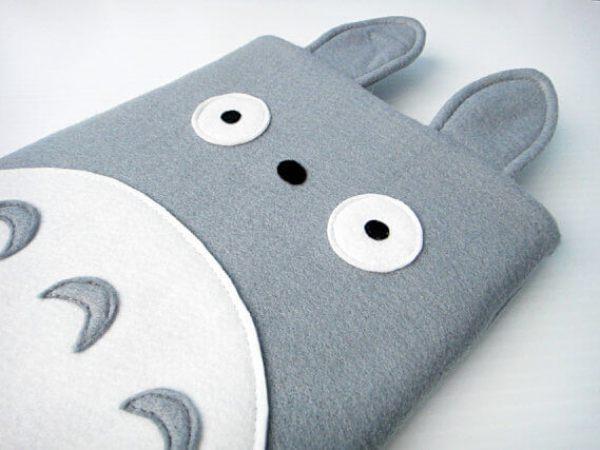 Nerdige iPad Sleeves aus Filz – Totoro