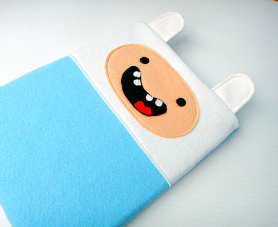 Nerdige iPad Sleeves aus Filz – Adventure Time Finn