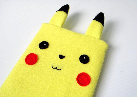 Nerdige iPad Sleeves aus Filz – Pokemon Pikachu