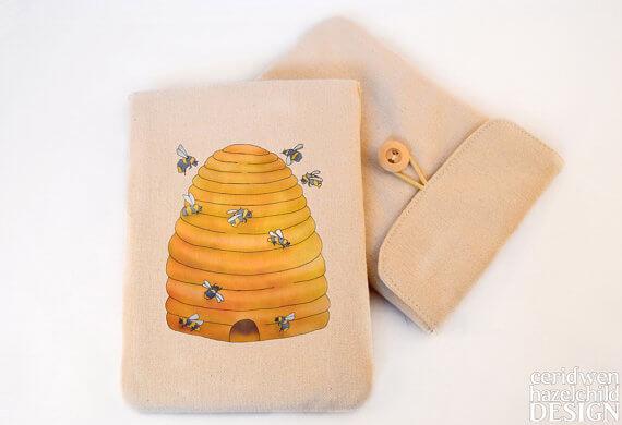 Tablet Sleeves mit Illustration – Bienen