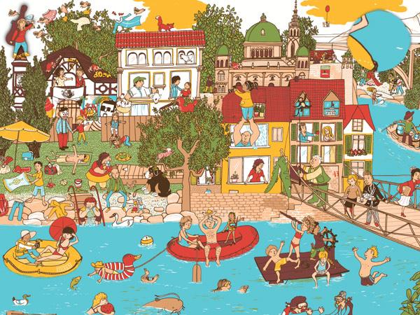 Suchbild App für Kleinkinder mit Schweizer Landschaft