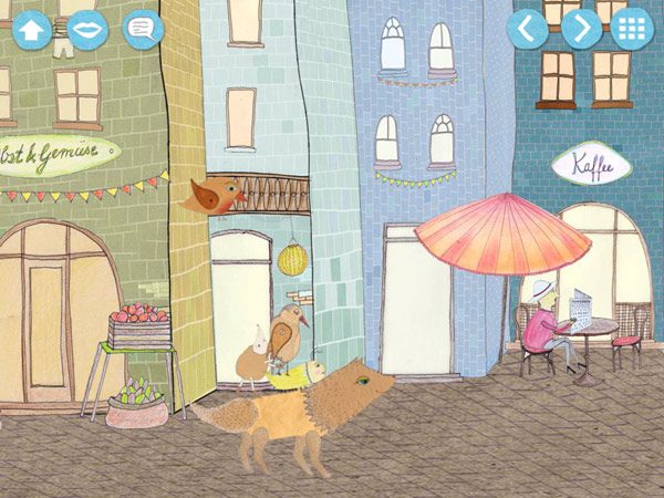 Kinderbuch App über die Suche eines Wolfs nach seinen Freunden
