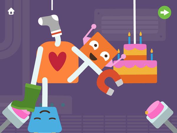 Bastel App für Kleinkinder mit Robotern