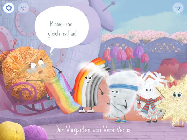 Interaktive Kinderbuch-App Rudi Regenbogen – Vera Venus