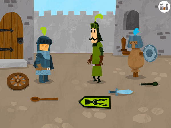 Kinder App für Jungs mit Rittern und Minispiele