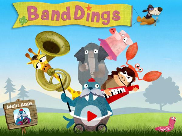 Banddings: tolle handgemachte Kinderapp voller Musik und Melodien