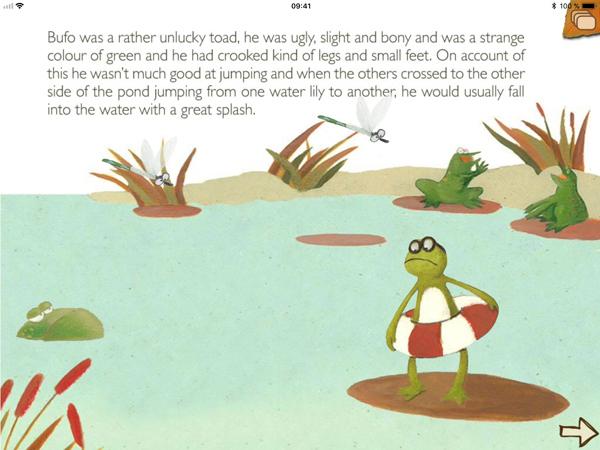 Liebevolle Kinderbuch App auf Englisch über Fähigkeiten und Selbstfindung