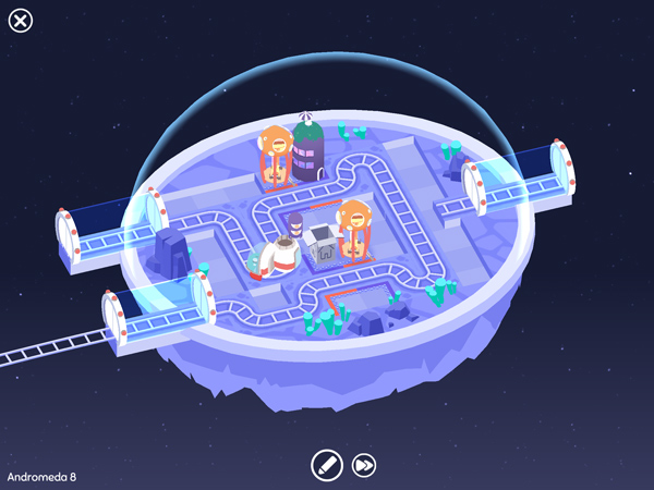 Cosmic Express: coole Rätsel- und Logikspiel Kinderapp im Weltall