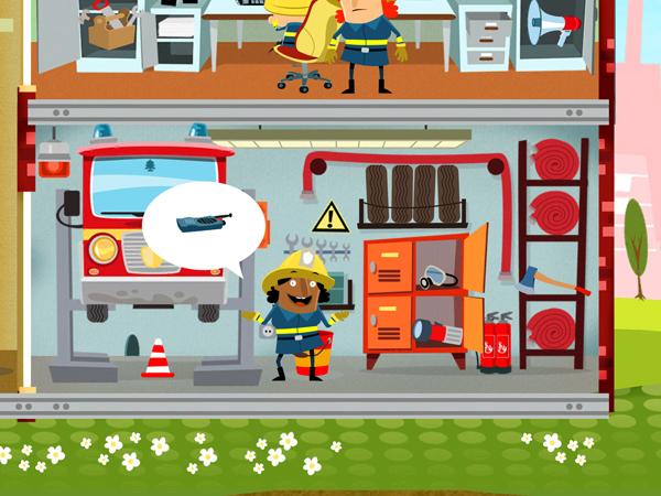 Spiele App für Vorschul-Kinder und Feuerwehr Fans