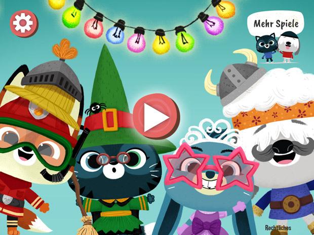 Kinderapp zum Zähneputzen für Kleinkinder und Tiere Verkleiden als kostenlose Spiele App