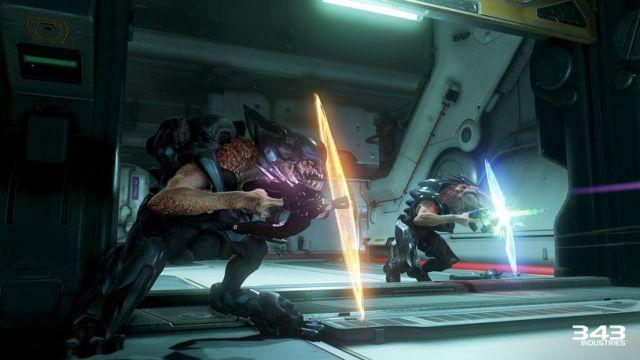 Inimigos com escudos normalmente são irritantes em quase todos os jogos. Nos Halo, são desenhados com vulnerabilidades suficientes para serem desafiantes sem se tornarem frustrantes - a menos que o jogador tenha uma mão cheia de granadas ou um lança-misseis. Azar.