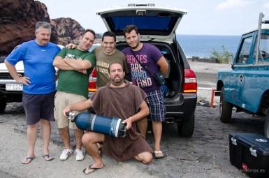 20110529 1333 - Adrián, Javier, Juan, Mundi, Sacha - Buceadores, Teno