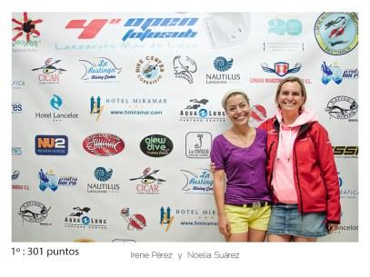 1º - 301 puntos: Irene Perez y Noelia Suárez