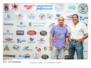 16º - 213 puntos:Antonio Gopar y Armando Martin