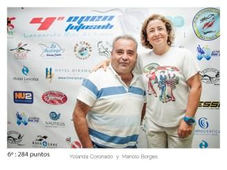 6º - 284 puntos: Yolanda Coronado y Manolo Borges