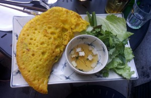 BÁNH XÈO - på restaurangen Minh Mat