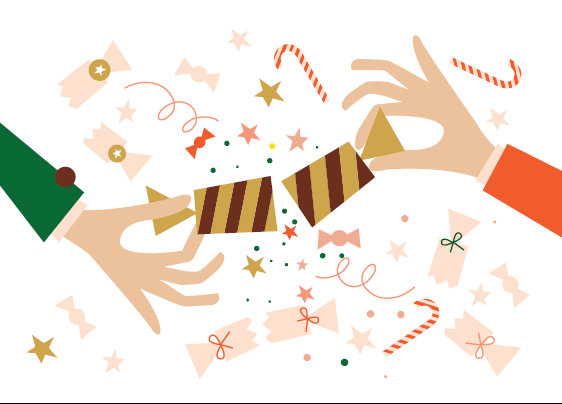 God Jul illustration