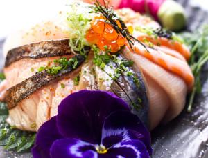 enkelt liv - bild på sushi