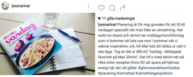 må bra tips här från Lyssnar inåts Instagram - om planering